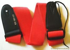 GUITAR STRAP ELECTRIC ACOUSTIC NEW 102K PLAIN RED