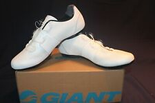 Giant Surge Pro White Three Bolt Men's Carbon Road Cycling Shoes, New in Box