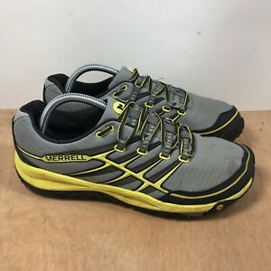 Merrell Unifly All Out Rush Wild Dove Yellow Trail Running Shoes Men's Size 9.5