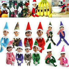 Christmas Gift Novelty Dolls The Elf On The Shelf Girl Boy Figure Plush Toy Xmas