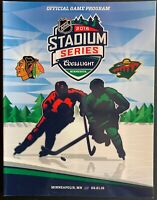 2016 NHL STADIUM SERIES PROGRAM CHICAGO BLACKHAWKS MINNESOTA WILD STANLEY CUP