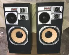 Vintage Rare Pair Kenwood 4 Way JL-840W Main Speakers Both Sound Great !
