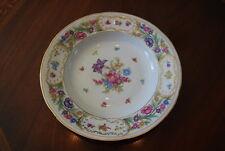 Vintage Oscar Schaller Dresden Flower Decorated Empress Style Large Soup Plate 2