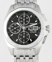 TISSOT PRC 100 Automatic Chronograph Day Date Stainless Steel Mens Wrist Watch