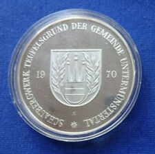 Untermünstertal-Silbermedaille 1970 PP (Kirchheimer)-Schaubergwerk Teufelsgrund