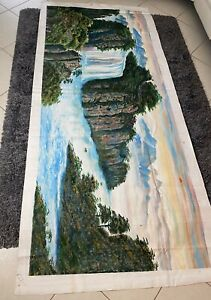 Sale! Massive Original hand-painted oil painting in canvas- landscape.