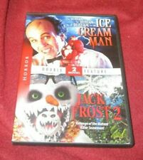 Ice Cream Man/Jack Frost 2 RARE OOP double feature DVD Clint Howard