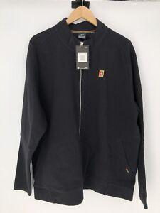 Nike Heritage NikeCourt Tennis Black Jacket Full Zip 2XL NWT XXL