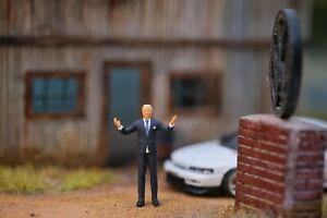 Miniature Figure President Joe Biden 1/87 or 1/64 Diecast no Preiser Hotwheel