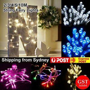 2/3/4/5/10m Battery Powered String Fairy Lights Party Wedding Christmas Decor AU