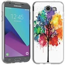 for Samsung Galaxy J3 Prime(Watercolor Tree)Clear TPU gel skin phone case cover