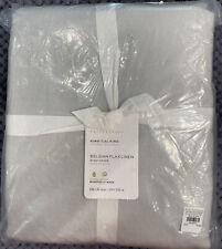 Pottery Barn Soft Gray Belgian Flax Linen Duvet Cover, King/Cal. King, FREE SHIP