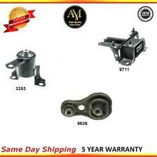 Engine and Manual Transmission Mount Set 3PCS for Mazda 2 2011-2015 L4 1.5L