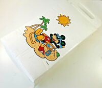 Vintage Mickey Mouse Travel Lunch Cold Bag Soft Cooler Tote Handle Beach Pool