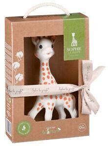 Sophie la Girafe Geschenk Giraffe Geburt Baby Naturkautschuk Schnuller Natur