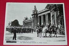RARE PHOTO PARIS-SOIR 1936 DEFILE 14 JUILLET SAINT-CYRIENS DEVANT GRAND PALAIS