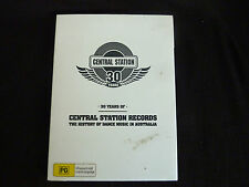 30 YEARS OF CENTRAL STATION RECORDS SEALED DVD! DANCE MUSIC IN AUSTRALIA SUBLIME