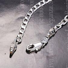 18K White Gold Filled Curb Chain Bracelet (B-265)