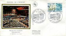 FRANCE FDC - S67 1 CONSEIL DE L'EUROPE - 21 Novembre 1981 - LUXE sur soie