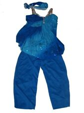 Girl Curtain Call Costume Blue Glitter Gala Dance Jazz Swing Top Pants Child L