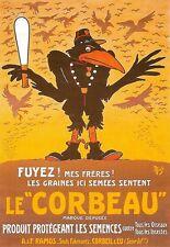 POSTER Artistico Le Corbeau francese annuncio stampa