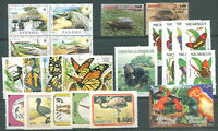 FAUNA - LATIN AMERICA 7 DIFFERENT COMPLETE SETS MNH VF