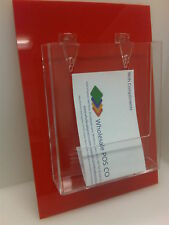SLATWALL A5 LEAFLET FLYER PLASTIC HOLDER DISPLAY x 3