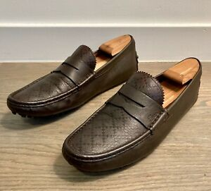Gucci Men's Brown Driving Loafers / Moccasins size 9.5 G  = US 10.5 *Authentic*