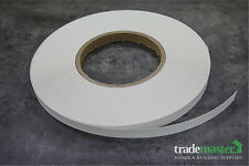White Melamine Edge Tape 21mm x 100m (PREGLUED) Iron On Veneer Laminate Edging