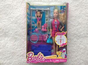 Barbie Gymnastics Playset with Barbie Coach Doll.
