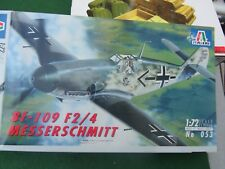 ITALERI MESSERSCHMITT Bf - 109 F2/4 1:72 SCALE MODEL KIT