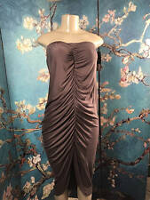 Mossimo Jrs Plus XXL Gray Ruched Convertible Strapless Dress