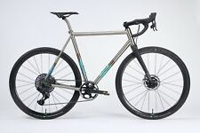 Firefly All Road frame one-off with anodized mountain art