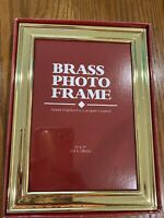 Beveled Brass 5x7 Photo Picture Frame Hand Polished and Lacquer Coated