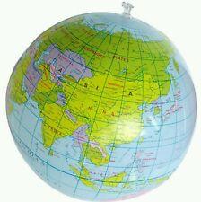 Inflatable Earth Globe Beach Ball 16'' (3 Total)