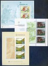 Portugal Madeira 1981 to 1991 run of Europa sheets unmounted mint(2016/12/10#04)
