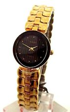 LADIES RADO FLORENCE WATCH R41695203 GOLD TONE BLACK DIAL BRAND NEW IN A BOX.