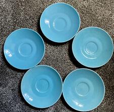 Vintage Vibrant Blue Saucers
