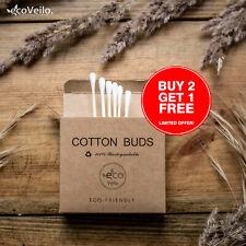 Bamboo Cotton Buds Biodegradable Vegan Eco Wooden Organic Ear Swabs