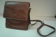 Women's The Trend Tan Brown Leather Messenger Bag Italy Adjustable Strap