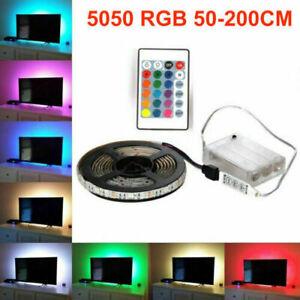 RGB LED Stripe 5050 SMD Leiste Streifen Band Licht Leuchte Lichterkette 0.5- 2M