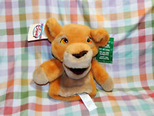 Disney LION KING II Stuffed Animal Plush KIARA Cub Hand PUPPET Unused Condition
