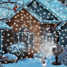 Christmas Snow LED Light Projector Snowfall Remote Control Winter Outdoor Decor