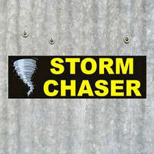 "New ""STORM CHASER"" response vehicle BUMPER STICKER tracker TORNADO weather decal"