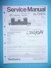Service Manual-instrucciones para Technics sl-ch570, original