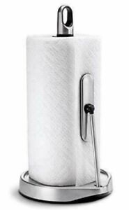 NEW Simplehuman Stainless Steel Tension Arm Paper Towel Holder - Open Box Item