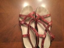 INTAGLIA  RED PATENT STRAPPY SHOES SIZE 6 M SAVANNAH SANDALS WOMENS