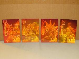 1995 Godzilla JPP Amada Complete 4 CARD SET holograms KING OF THE MONSTER! MECHA