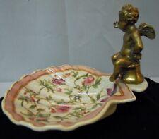 Art Deco Style Bowl Soapdish Figurine Baby Art Nouveau Style Porcelain Bronze