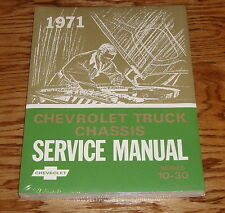 1971 Chevrolet Truck Chassis Service Manual Series 10-30 71 Chevy